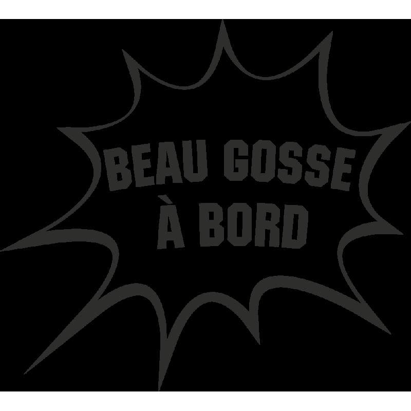 Sticker Humour Beau Gosse