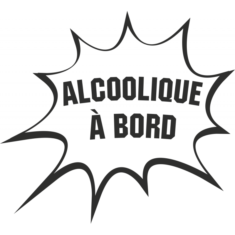 Sticker Humour Alcoolique