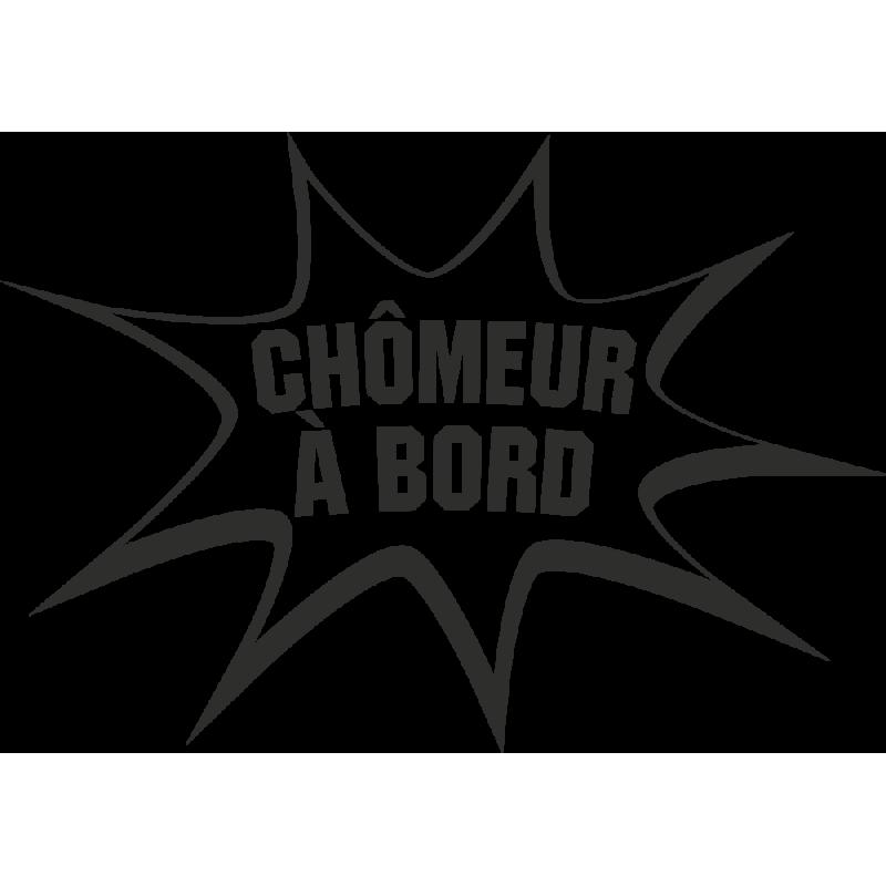 Sticker Humour Chômeur