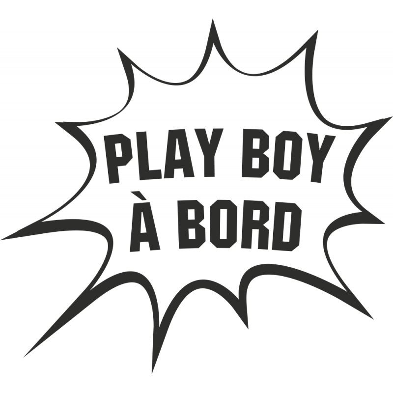 Sticker Humour Play Boy