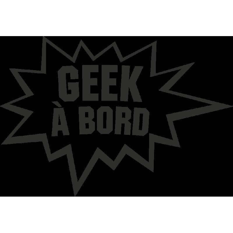 Sticker Humour Geek