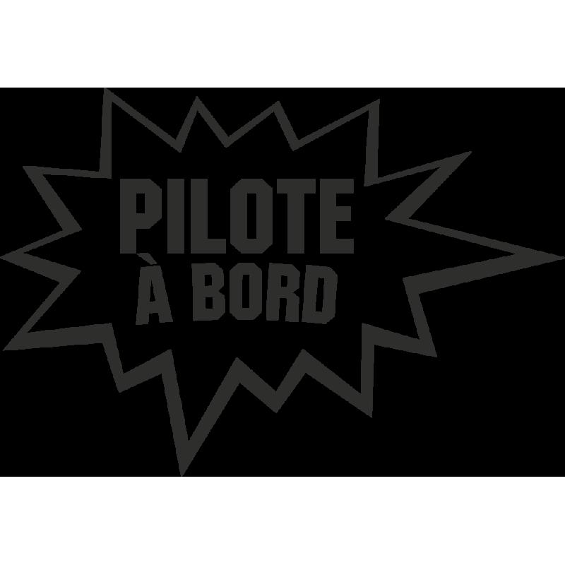 Sticker Humour Pilote