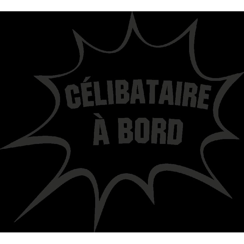 Sticker Humour Célibataire
