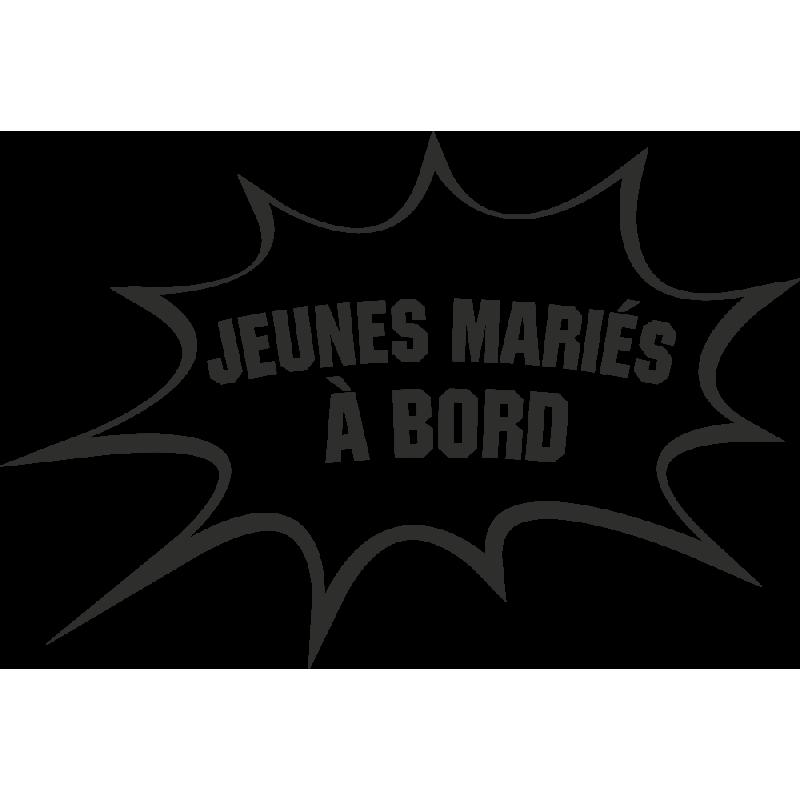 Sticker Humour Jeunes Mariés