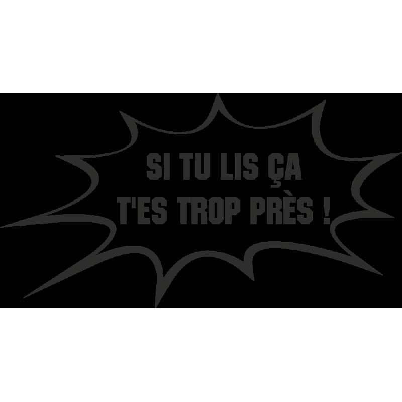 Sticker Humour Près