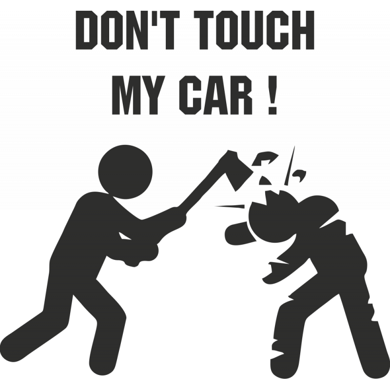 Sticker Humour Don' Touch