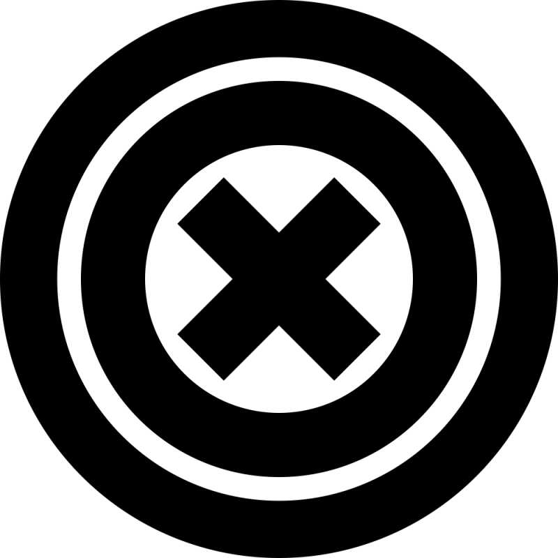 Sticker Cercle Cible Croix Moderne