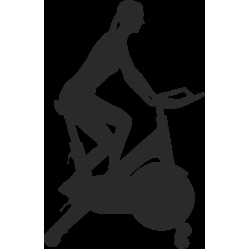 Sticker Métier Loisirs Sport Vélo De Salle