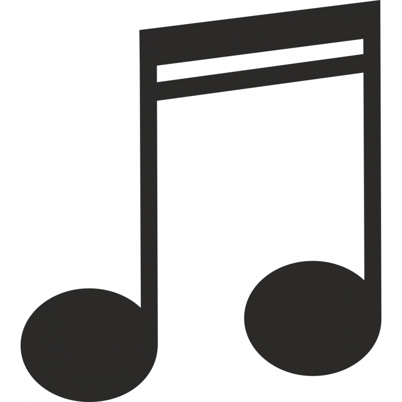 Sticker Métier Loisirs Musique Note 4