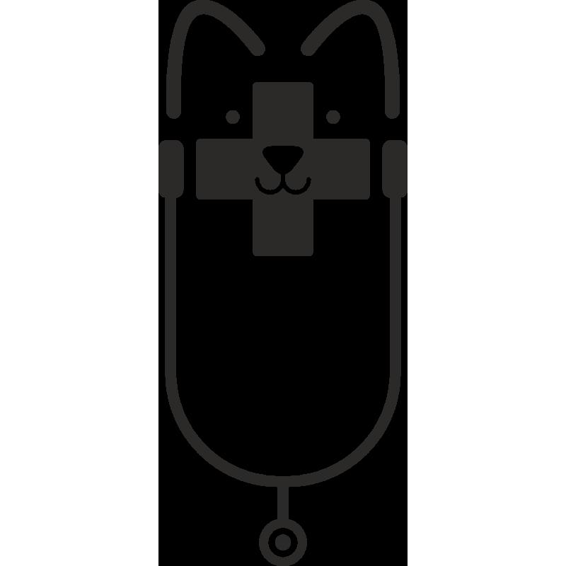 Sticker Métier Santé Vétérinaire 7