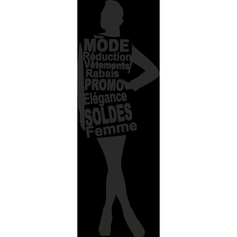 Sticker Femme Soldes 3