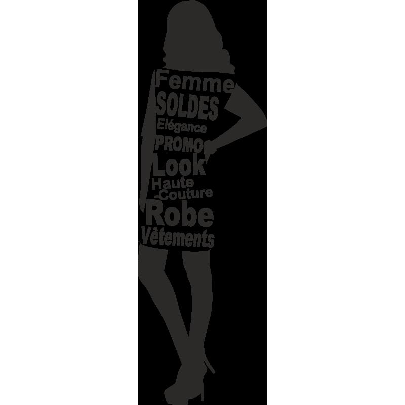 Sticker Femme Soldes 4