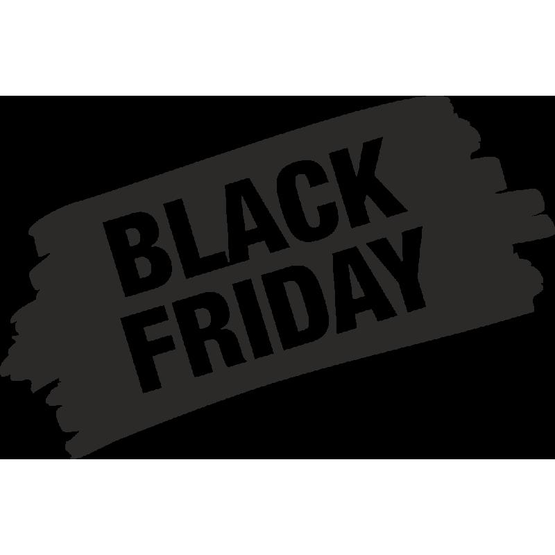 Sticker Soldes Grunge Black Friday