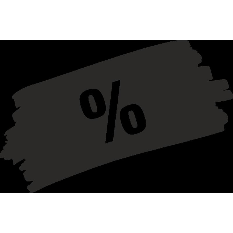 Sticker Soldes Grunge %