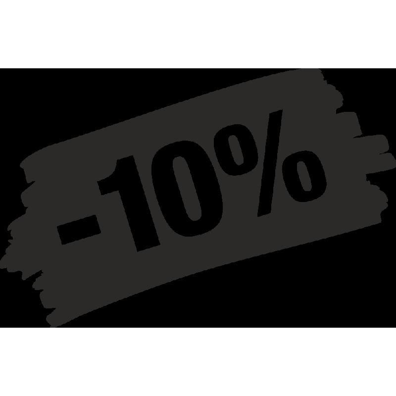 Sticker Soldes Grunge 10%