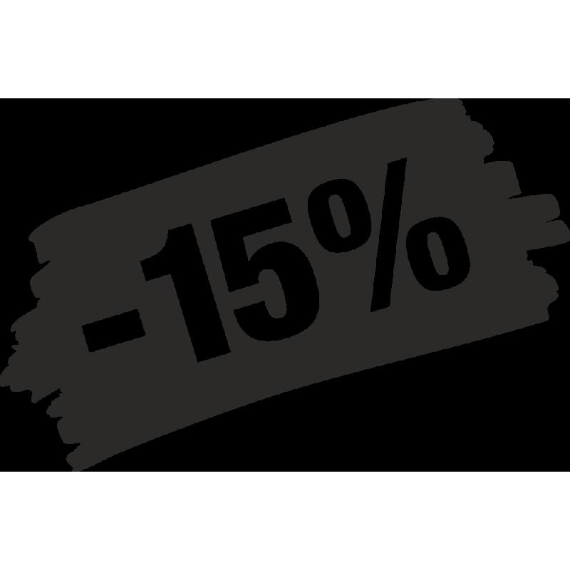 Sticker Soldes Grunge 15%
