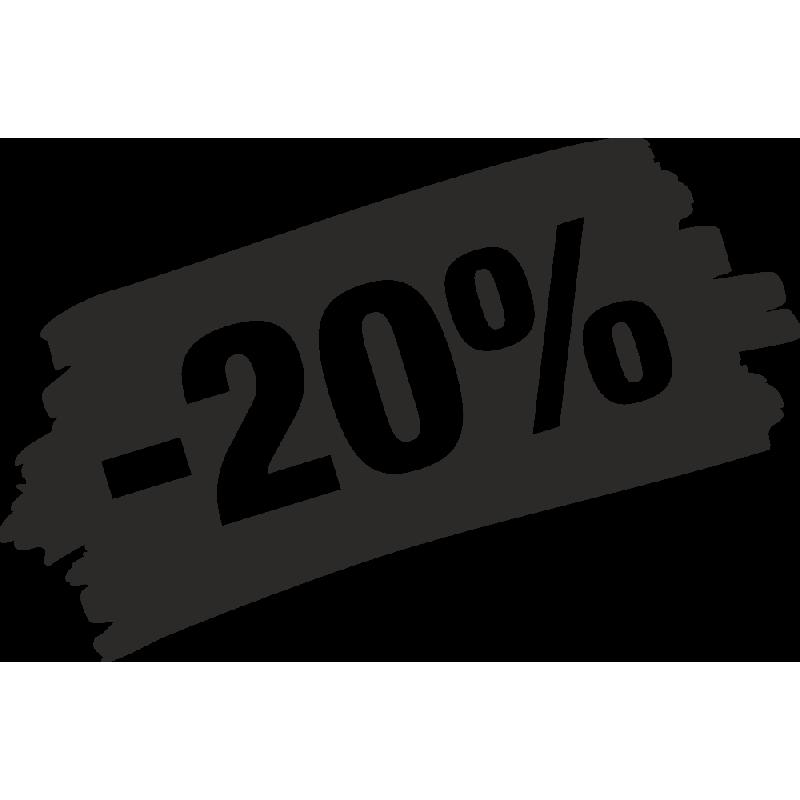 Sticker Soldes Grunge 20%