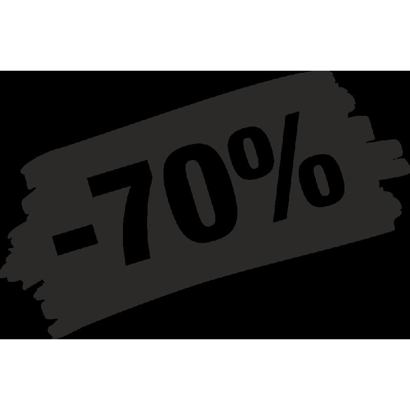 Sticker Soldes Grunge 70%