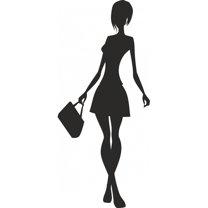 Sticker Soldes Femmes Shopping 5