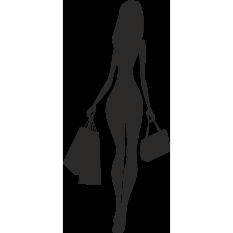 Sticker Soldes Femmes Shopping 7