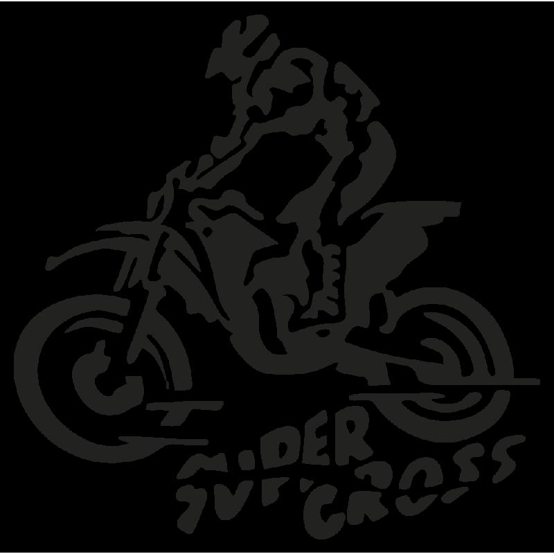 Sticker Super Cross Moto
