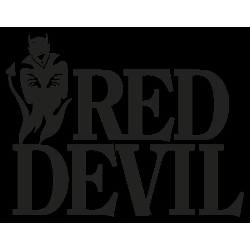 Sticker Red Devil