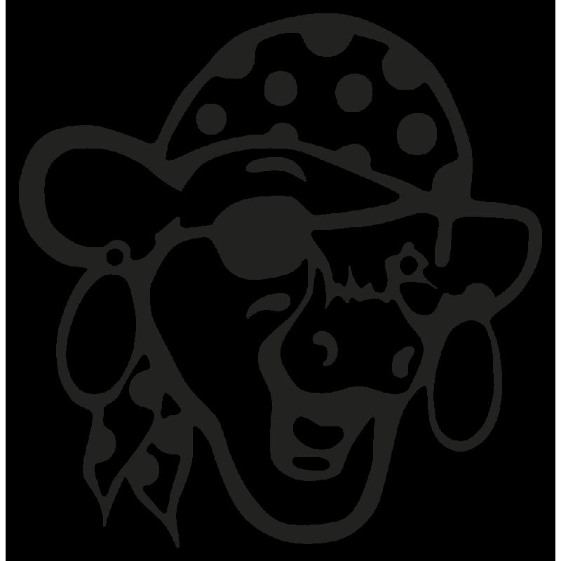 Sticker Vache Pirate