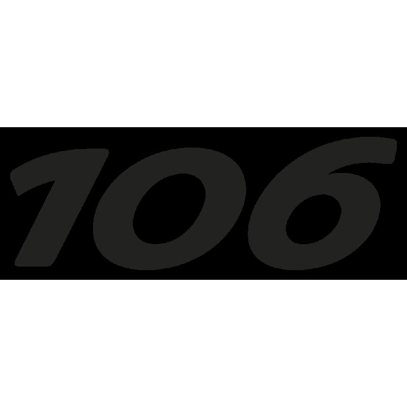 Sticker 106 Peugeot