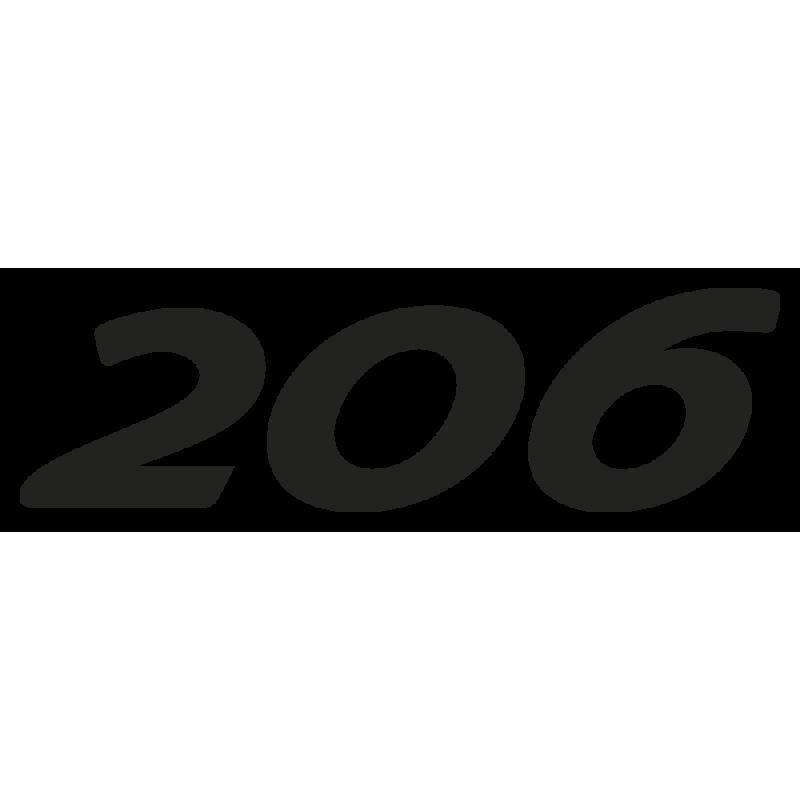 Sticker 206 Peugeot