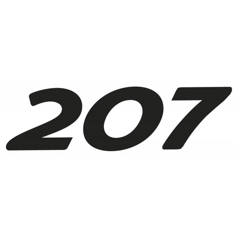 Sticker 207 Peugeot