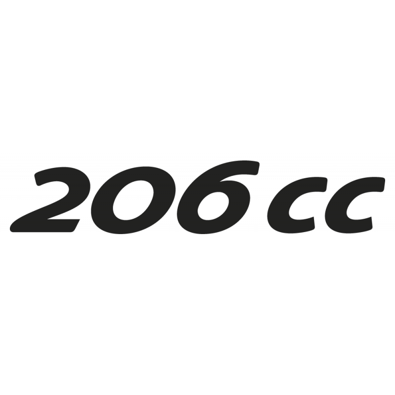 Sticker 206cc Peugeot