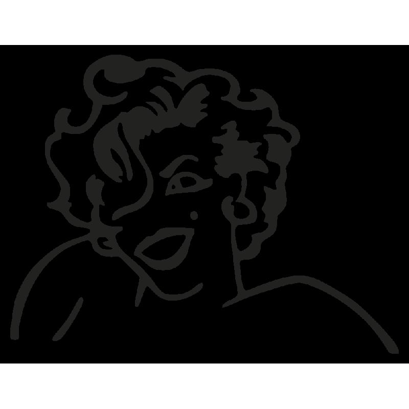 Sticker Maryline Monroe