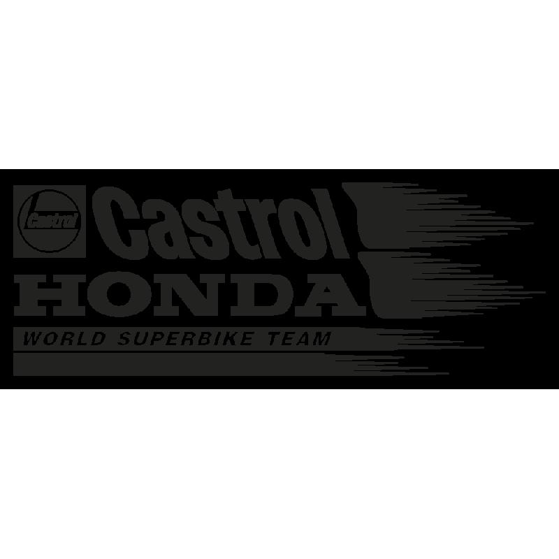Sticker Honda Castrol Gauche