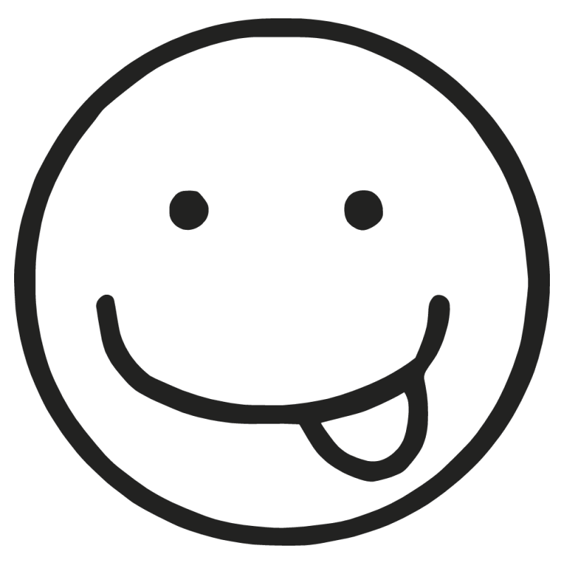 Sticker Smile Tire Langue