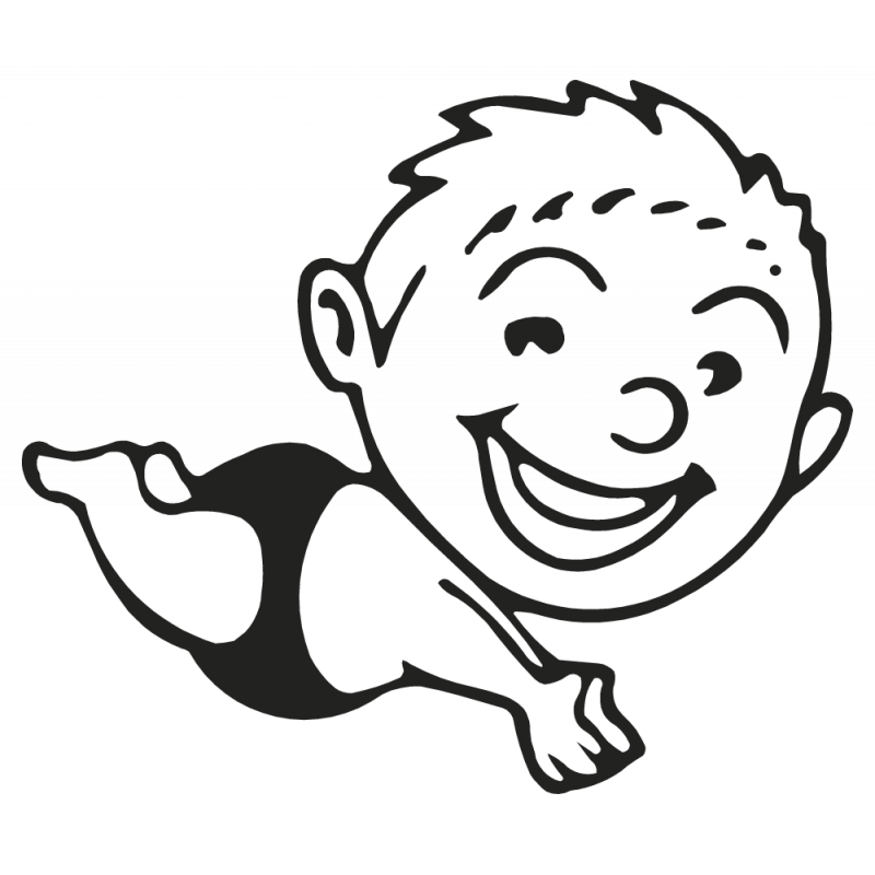 Sticker Enfant Plongeur