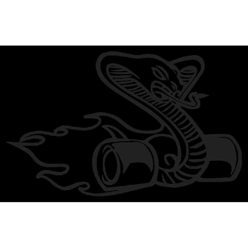 Sticker Serpent Burn