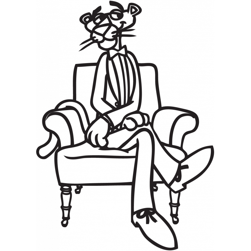 Sticker Pantère Rose