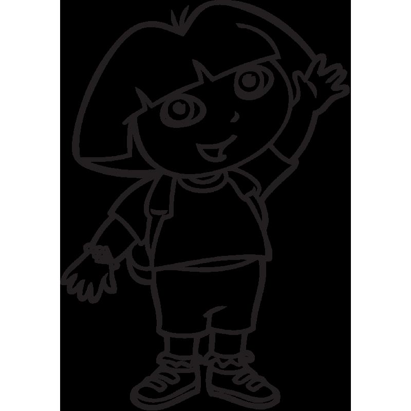 Sticker Dora Exploratrice