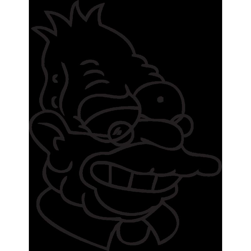 Sticker Simpsons Grand Père