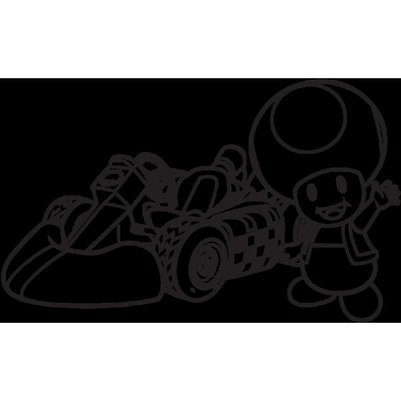 Sticker Mario Toad