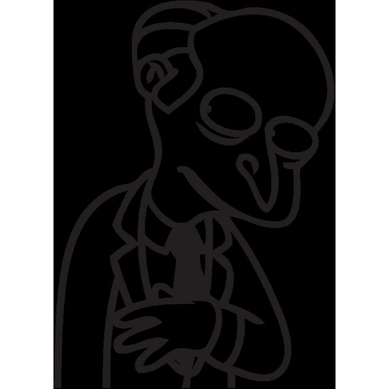 Sticker Simpson Mr Burns