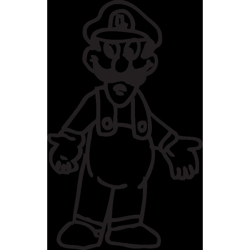 Sticker Mario Luigi