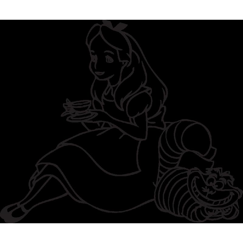 Sticker Alice Aux Pays Des Merveilles