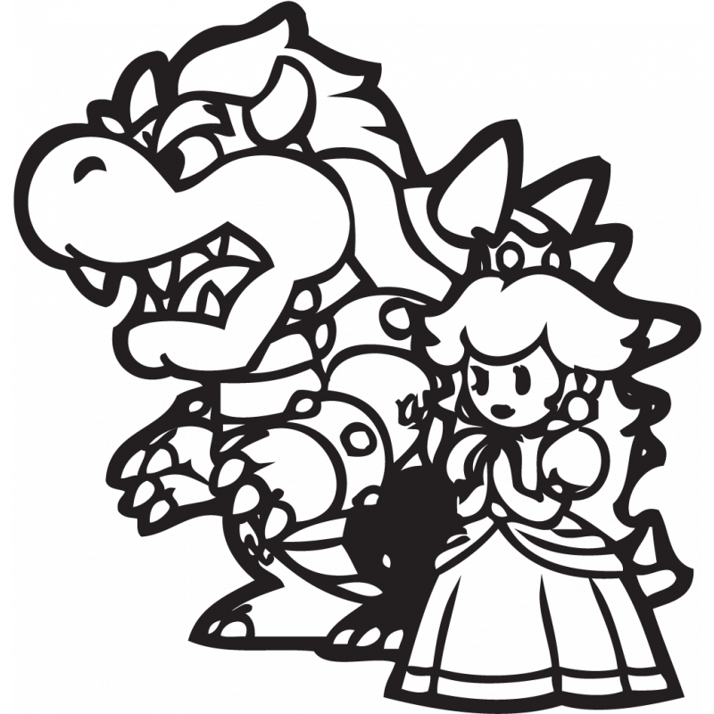 Sticker Mario Bowser
