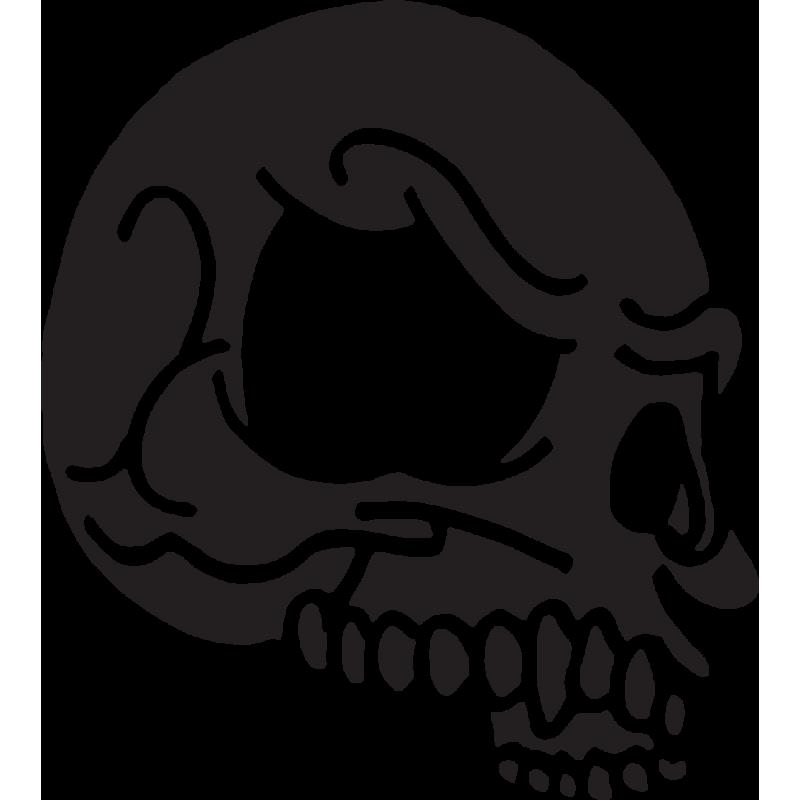 Sticker Tête De Mort