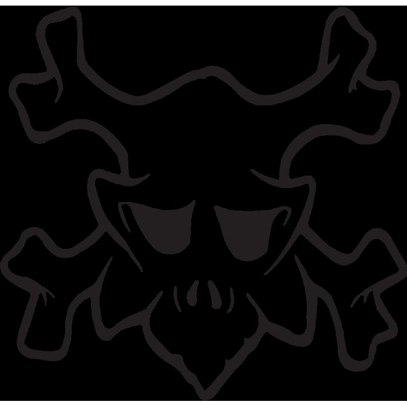 Sticker Tête De Mort 21
