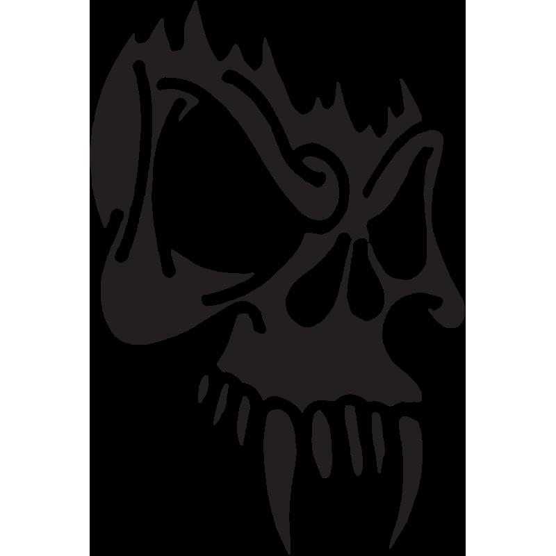 Sticker Tête De Mort 22