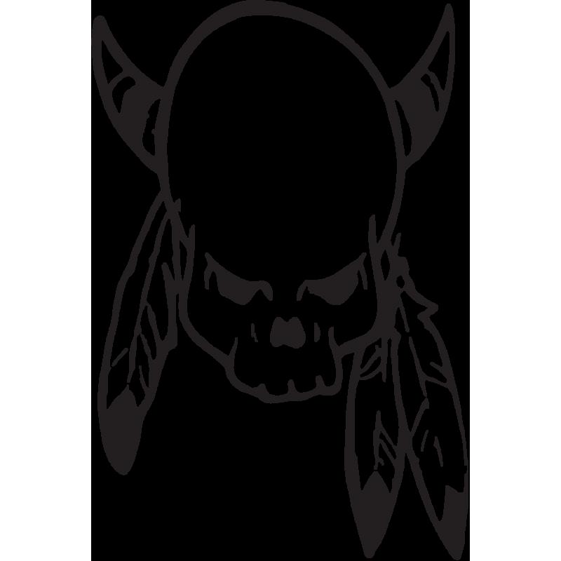 Sticker Tête De Mort 30