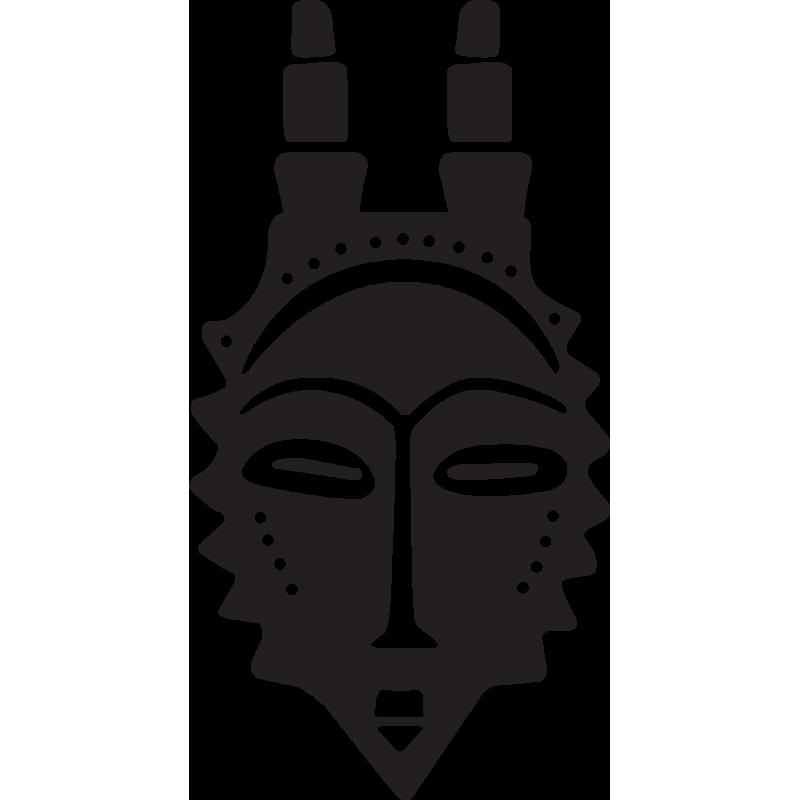 Sticker Masque Africain