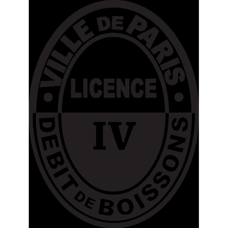 Sticker Licence Iv -débit Boissons